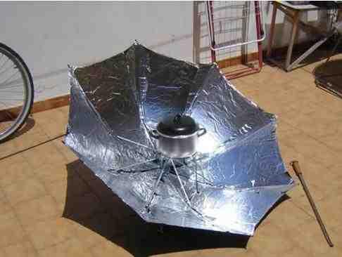 C mo hacer una cocina solar con un paraguas la paracocina for Planos para cocina solar parabolica